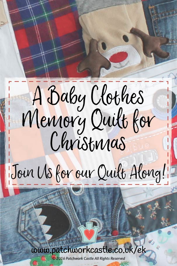 A Baby Clothes Memory Quilt for Christmas - join our quilt along!
