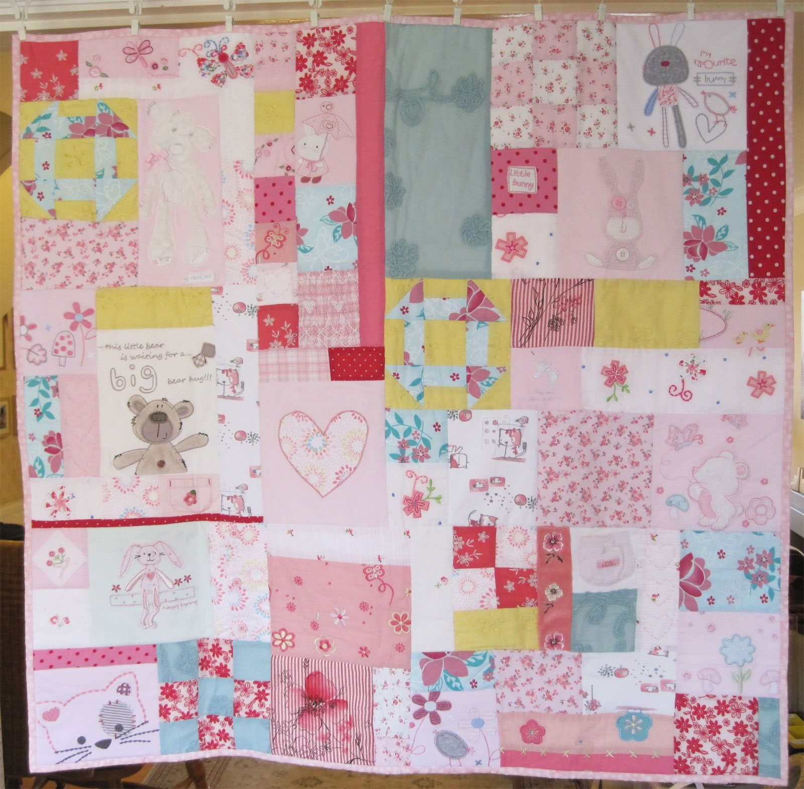 Baby Girls Memory Patchwork Quilt