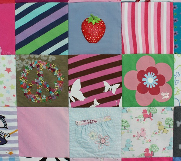 Keepsake-Baby-Clothes-Memory-Quilt-All-Squared-Up-Patchwork Castle