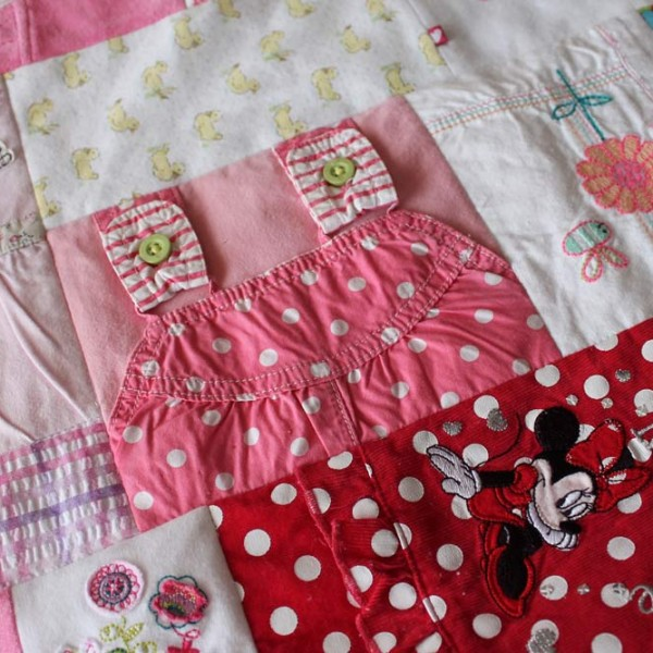 Baby Clothes Memory Quilt Keepsake Patchwork Castle