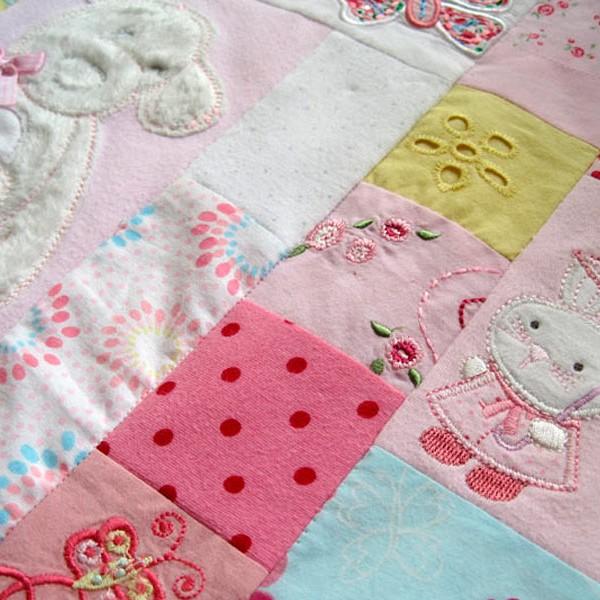 Keepsake Baby Clothes Memory Quilt Patchwork Castle