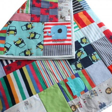 Baby clothes memory quilt | Patchwork Castle