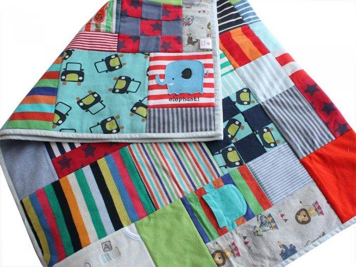Baby clothes memory quilt | Patchwork Castle