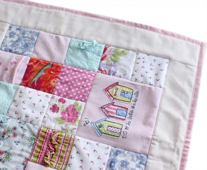 All Squared Up baby clothes quilt | Patchwork Castle