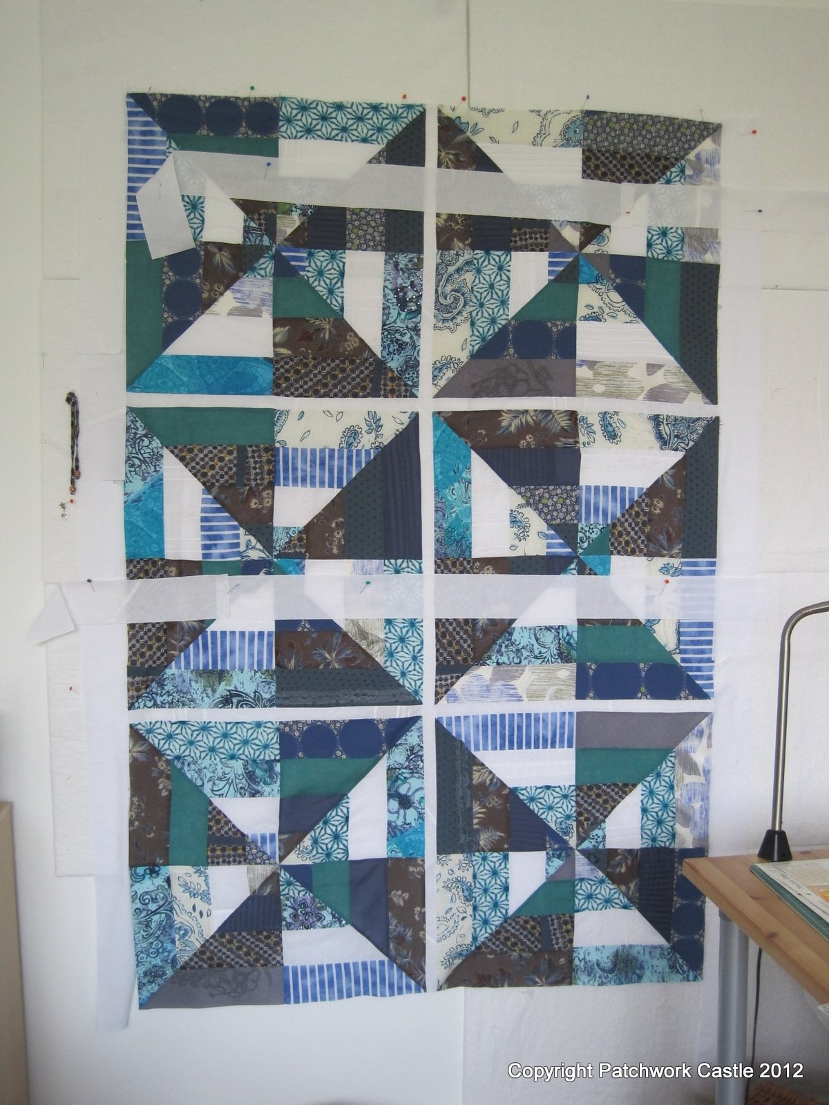 Patchwork Quilt In The Making