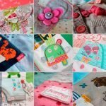 baby clothes memory quilts detail