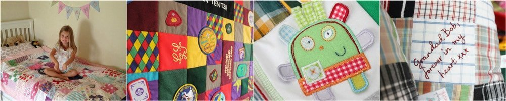 Patchwork Castle Memory Quilts and Keepsake Cushions