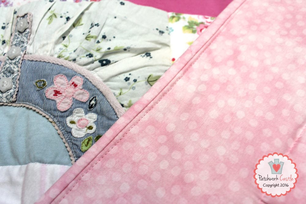 Close Up of Memory Quilt binding | Patchwork Castle