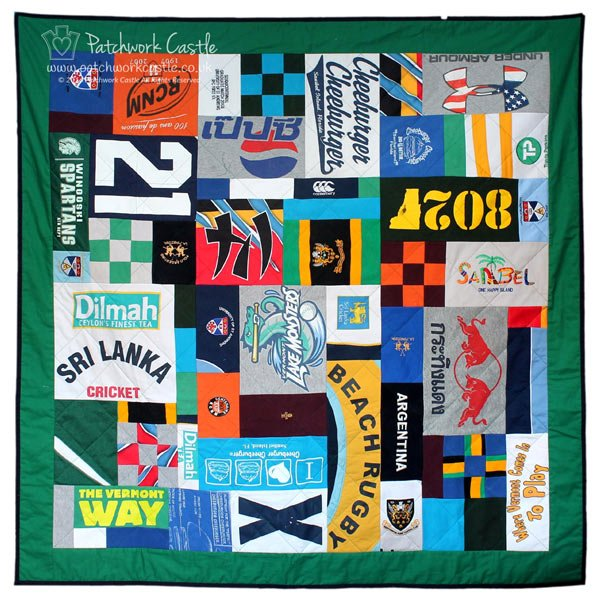 Adult T-shirt Quilt - Signature Mosaic large square