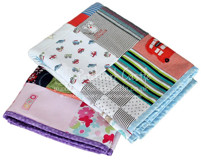 Baby clothes crib sized quilts