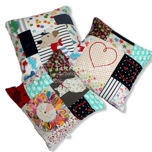 Keepsake Square Patchwork Cushions