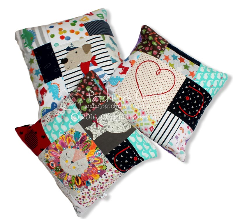 Keepsake Square Patchwork Cushion