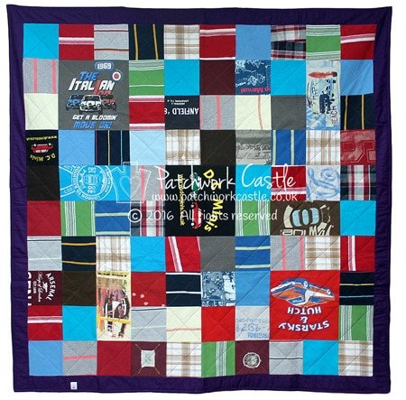 Adult Keepsake Memory Quilt Simply Squares