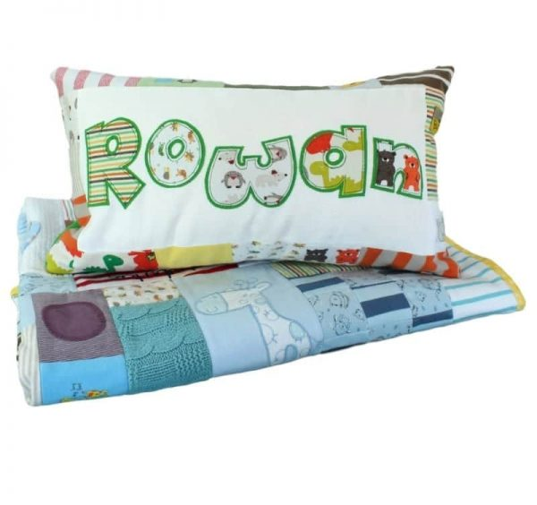 Memory Quilt and Personalised Cushion