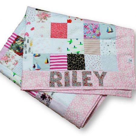 Baby clothes memory quilt for Riley