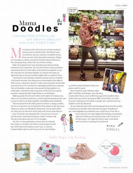 Jakki Doodles Magazine Baby Clothes Memory Quilt