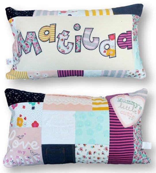Keepsake Personalised Patchwork Cushion | Patchwork Castle